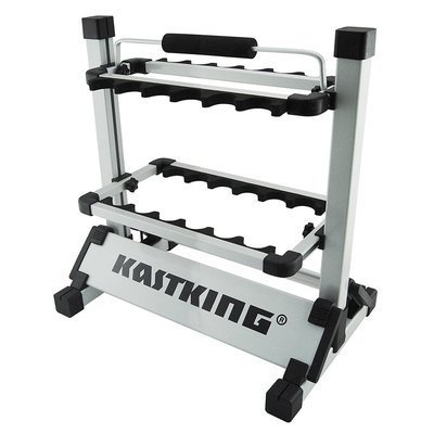 kastking rack'em up portable aluminum fishing rod rack holds up 12 rods