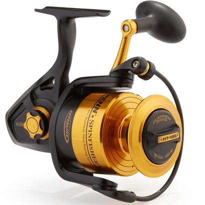 penn ssv6500 boxed spinfisher v spinning fishing reel with ht-100 slammer drag system