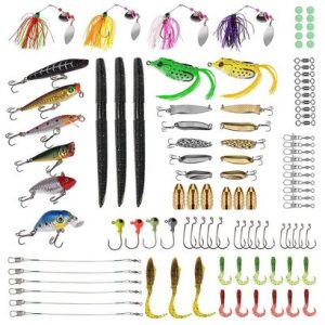 plusinno fishing lures set with 102 pieces fishing lure tackle