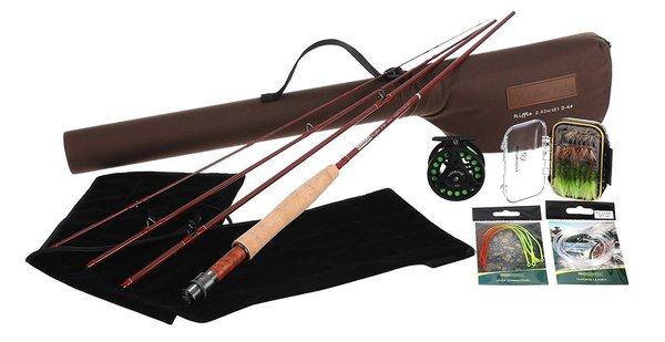fishingsir riffle series fly fishing full kit includes fly rod, fly reel, tools and accessories for beginners and professionals fishermen