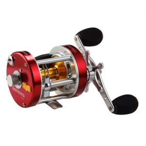 kastking rover round baitcasting reel with full metal body and superior carbon fiber drag system