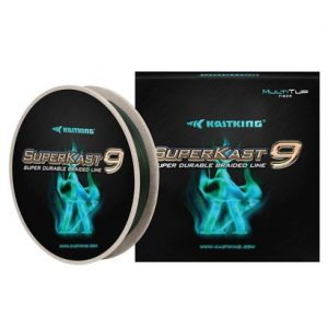 kastking superkast9 super durable 9 strand braided fishing line with reverse spiral winding technology, ultra low stretch and environmental friendly biospool