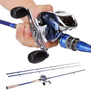 sougayilang baitcasting fishing rod with fishing reel combos suitable for bass and catfish
