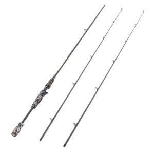 entsport camo legend 2-piece casting rod 7 graphite portable baitcasting fishing rod travel design
