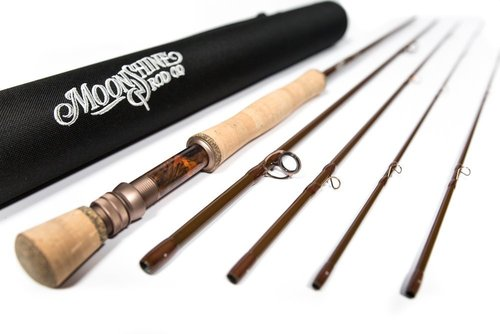 moonshine rod co. the drifter series fly fishing rod (gloss, 8wt 9' 4-pieces)