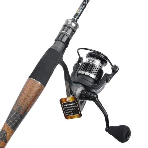ecooda black hawk II fishing reel for saltwater and freshwater with high strength aluminum body and spool