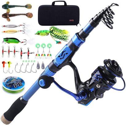Sougayilang Rod and Reel Fishing Set