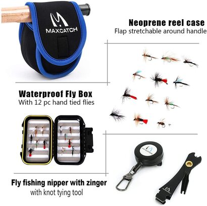 Maxcatch Extreme Fly Fishing Rod and Reel include Cordura Rod Case with Reel Pouch